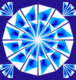 simple geometric tile composed of white and blue vector image vector image