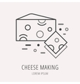 Simple Logo Template Cheese Making vector image