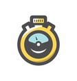 stopwatch speed timer icon cartoon vector image