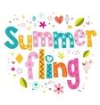 Summer fling vector image vector image