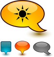 Sun speech comic icons vector image vector image