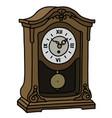 the old desktop pendulum clock vector image vector image