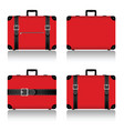 travel suitcase set in red vector image vector image