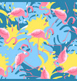 trendy seamless pattern with tropical pink vector image