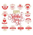 Valentine day Set of typography elements with vector image