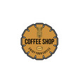 vintage grinder coffee logo designs inspiration vector image