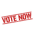 vote now stamp vector image vector image