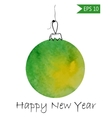 Watercolor christmas bauble Colorful on white vector image