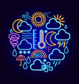 weather forecast neon concept vector image vector image