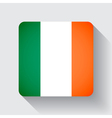 Web button with flag of Ireland vector image vector image