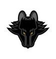wolf face logo symbol cartoon style head predator vector image