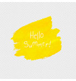 yellow blob isolated transparent background vector image vector image