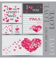 Set of Happy Valentines Day Cards vector image
