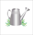 garden watering can drawing vector image