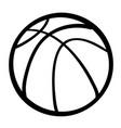 cartoon image of basketball ball vector image