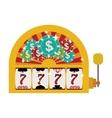 jackpot machine icon vector image