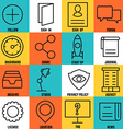 Set of linear internet service icons - part 3 vector image