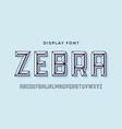 3d modern font white modern line alphabet vector image vector image