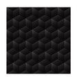 3d seamless cube background dark vector image