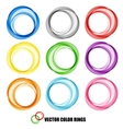 Abstract background color ring vector image vector image