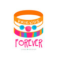 abstract design with friendship bracelets vector image