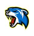 angry polecat mascot vector image vector image