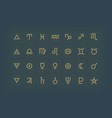 astrology symbols and mystic signs set vector image
