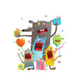 big rat and cats party vector image vector image