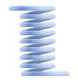blue flexible cable icon cartoon style vector image