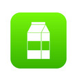 box of milk icon digital green vector image