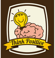 brain design vector image vector image