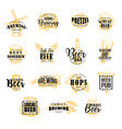 brewery and beer icons lettering vector image