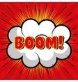 bubble speech boom explosion graphic vector image vector image