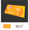 business card abstract vector image vector image