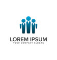 business man people logo design concept template vector image