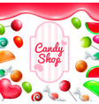 candy shop set vector image