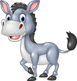 Cartoon funny donkey isolated on white background vector image vector image