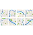 city navigation map pattern gps style set eight vector image