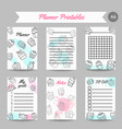 cupcake printables with handdrawn cupcakes and vector image vector image