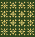 dark green background with beautiful gold vector image vector image