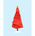 decorated christmas tree vector image