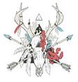 deer skull totem vector image vector image