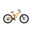 downhill sport bicycle isolated icon vector image