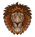 Ethnic patterned ornate head lion