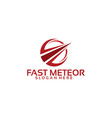 fast meteor business logo template designs vector image vector image