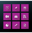 flat office icon set vector image vector image