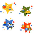 four with childrens toys vector image vector image