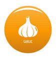 garlic icon orange vector image
