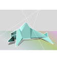 geometrical dolphin vector image vector image