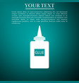 glue icon isolated on green background vector image vector image